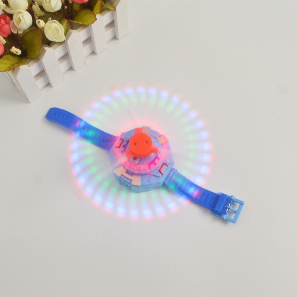 Christmas Gifts! Children Electric Flashing Toys 3 Lights Music Wrist Windmill LED Flash Luminous Watch Kids Toys