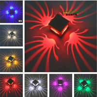 30pcs 3W New Modern LED Sconce Creative Colorful Led Wall Light Aluminum for Bedroom Corridor Porch Background Fixture Porch
