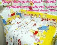 Promotion! 6/7PCS baby cot bedding set baby bed linen sheet bumper ,duvet cover ,120*60/120*70cm