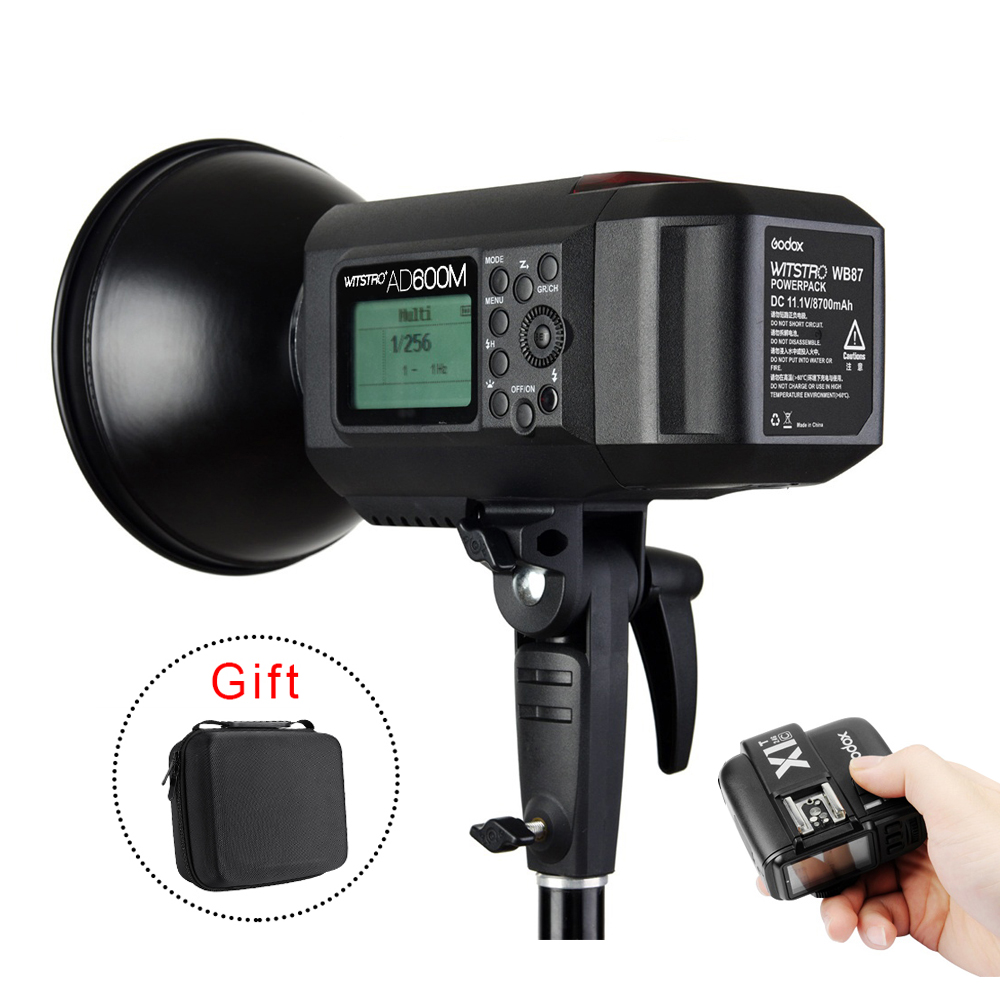 Руководство Версия Godox AD600M 600 Вт GN87 HSS 1/8000 s Открытый Flash свет ж/Литиевая Батарея 8700 мАч + X1C Вспышка Триггера для Canon