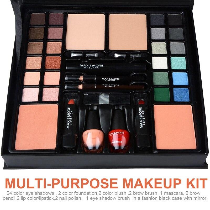 Makeup Palette Set Matte Eyeshadow Lipstick Foundation Concealer Eyebrow Pencil Eyeliner Makeup Set Cosmetic Kit Maquiagem