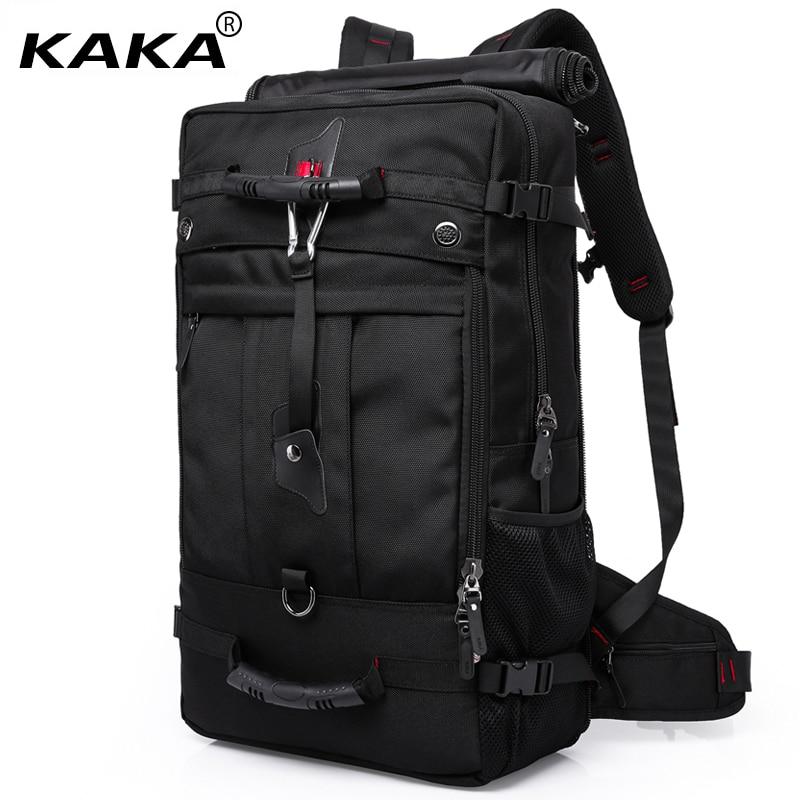 2019 KAKA Brand Designer Men Travel Bags Large Capacity 50L Versatile Multifunctional Waterproof Backpack luggage for