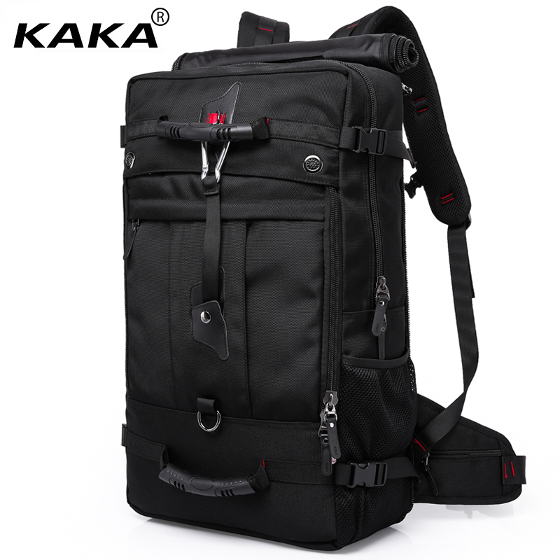 "2019 Kaka Brand Designer Men Travel Bags Large Capacity 50l Versatile Multifunctional Waterproof Backpack Luggage For 17"" Laptop"