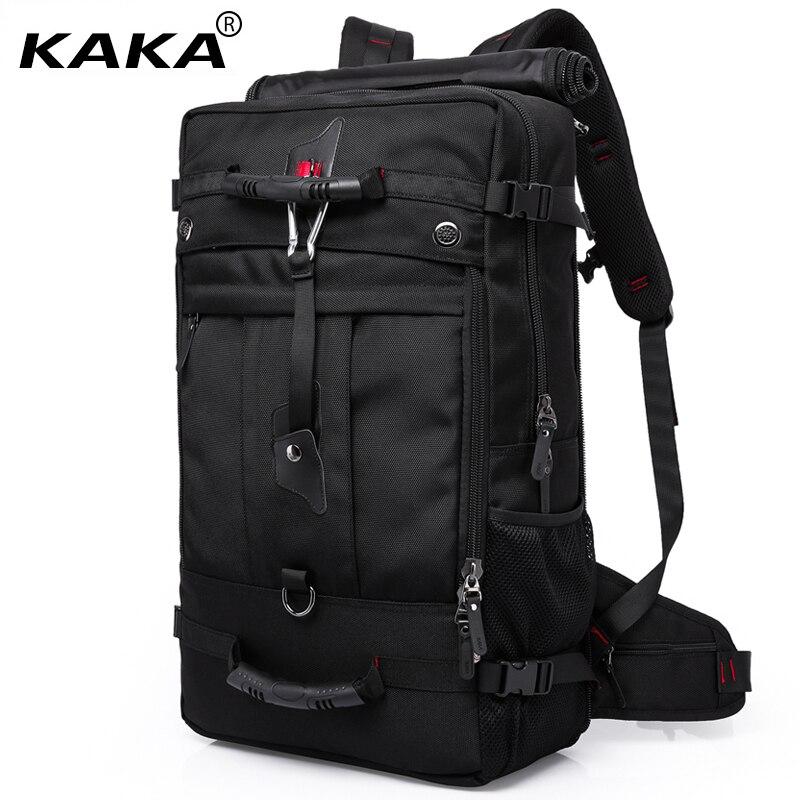 2019 KAKA marque Designer hommes sacs de voyage grande capacité 50L polyvalent multifonctionnel étanche sac à dos bagages pour 17