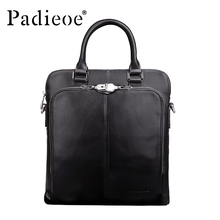 Brand Padieoe Handbag Men Briefcase Fashion Shoulder Bags Business Casual Crossbody Bag Tote Bag Cowhide Men's Messenger Bags