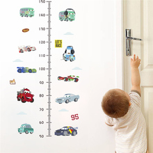 Cartoon Car Growth Chart Height Measure Wall Stickers Kids Room Decoration Diy Home Decals Mual Art Children Gift