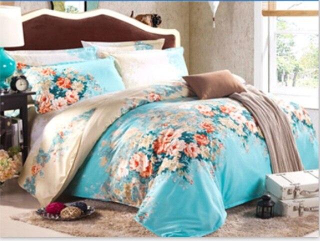4pcs Bedding Set King Super Size Bed Sets Quilt Wedding Duvet