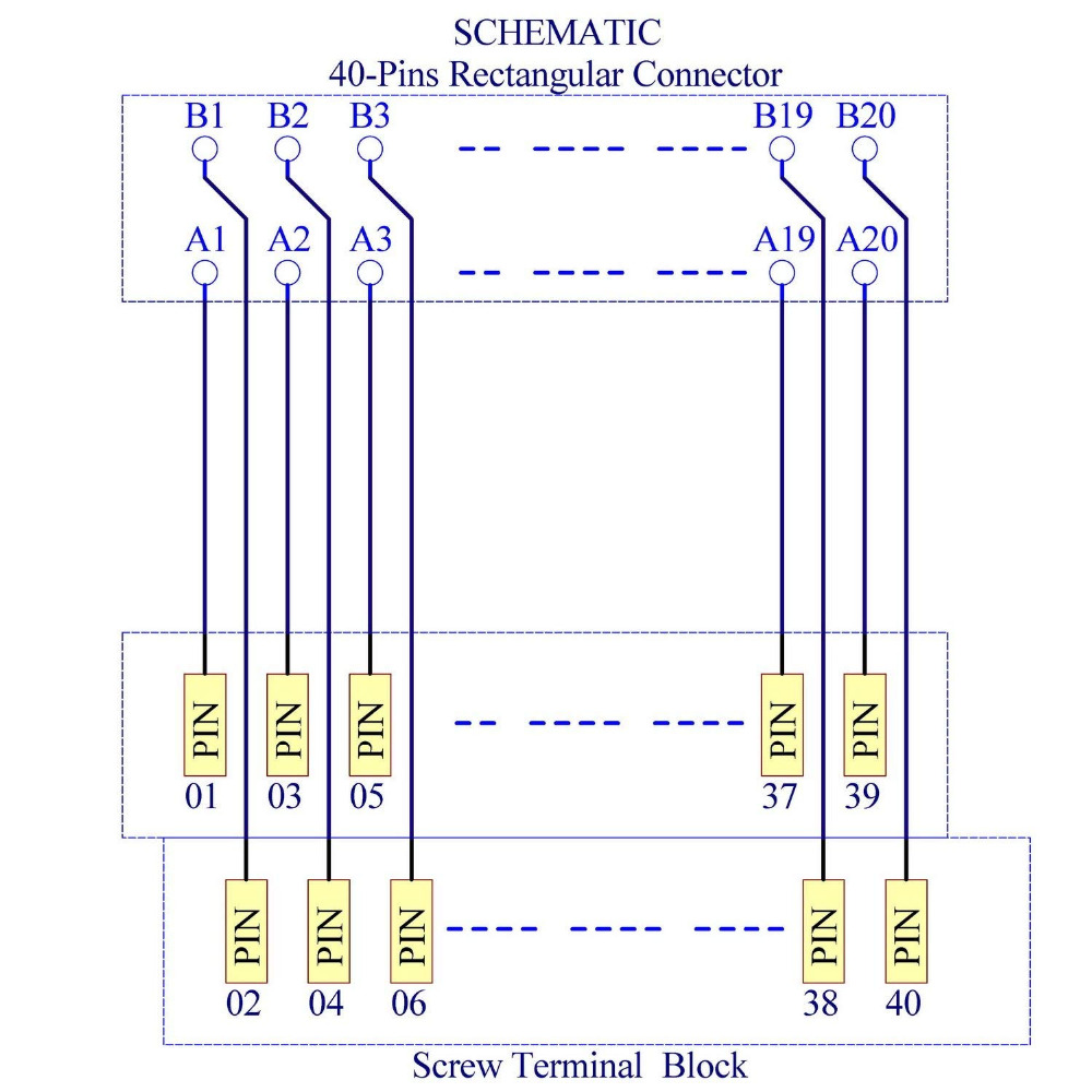 Terminal Block Wiring Plc Free Diagram For You Marine Electronics Salon Compatible Xw2b 40f5 P 40pin Rectangular Connector Rh Aliexpress Com Dc