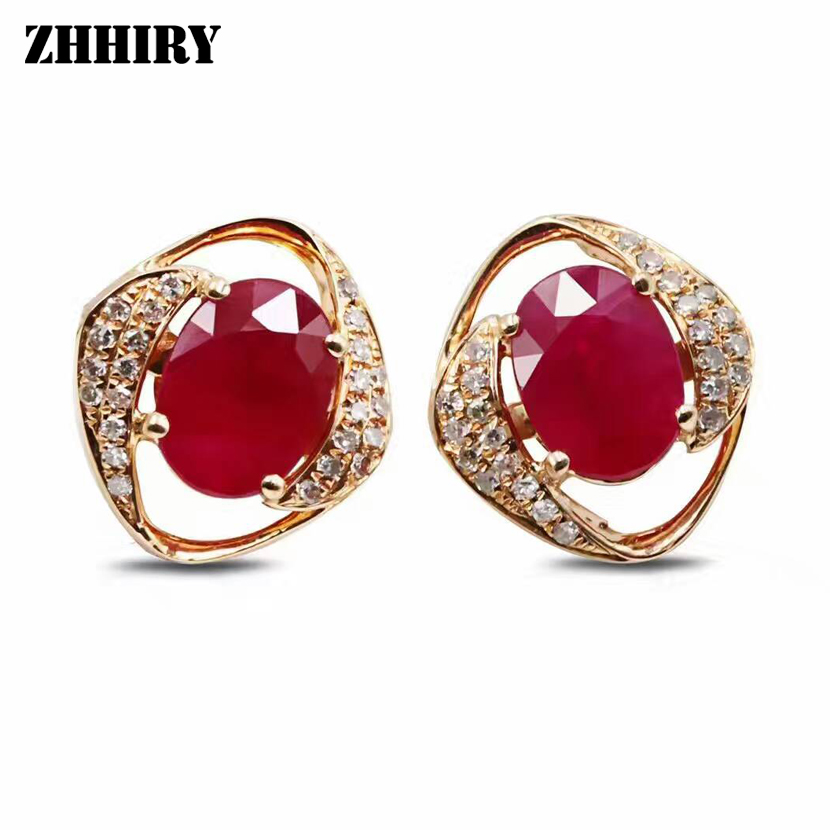 real ruby earrings genuine ruby dangle earrings white gold