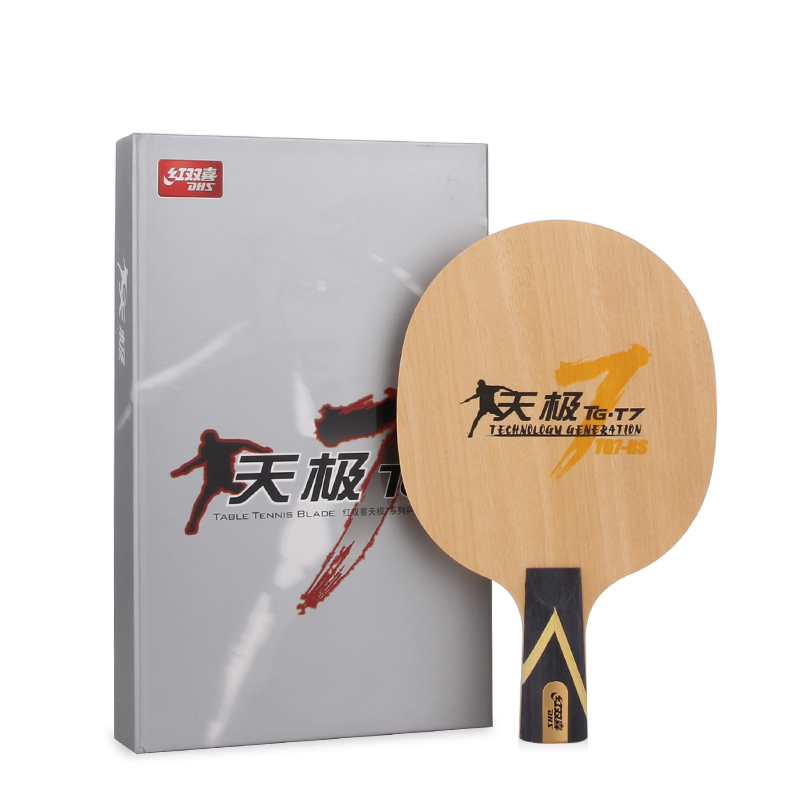 ФОТО DHS TG7.P2 ( TG7-P2, TG7 P2) 5-Full-Wood, Attack+Loop, OFF++ Table Tennis Blade (Shakehand) for PingPong Racket