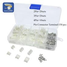 50 комплектов в коробке 2p 3p 4 pin 2,54 мм Шаг Терминал/корпус/контактный разъем провода соединители адаптер XH2P наборы