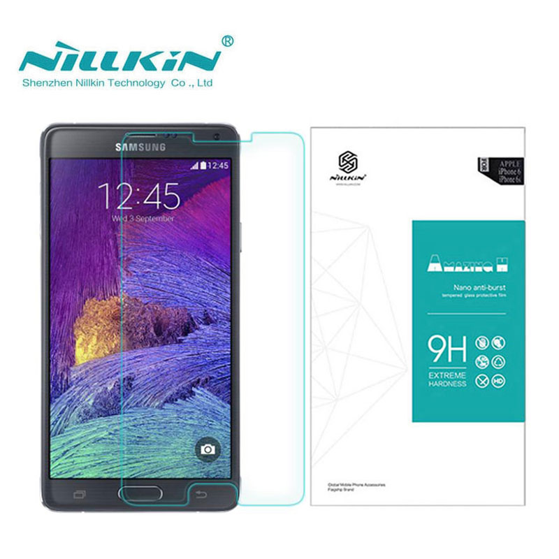 Nillkin Screen Protector For Samsung Galaxy Note 4 Note4 N9100 Amazing H 0 33MM sFor Samsung