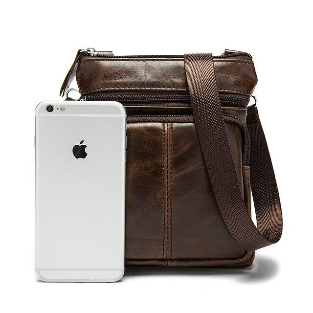 WESTAL Messenger Bag Men Shoulder bag Genuine Leather Small male man Crossbody bags for Messenger men Leather bags Handbags M701 5