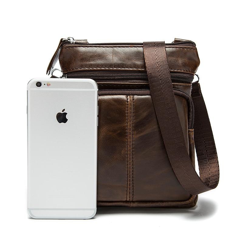 WESTAL Messenger Bag Men Shoulder bag Genuine Leather Small male man Crossbody bags for Messenger men Leather bags Handbags M701 6