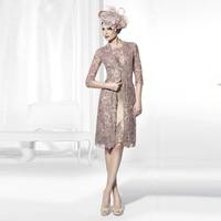 Arabic Kaftan Custom Made Arabic Abaya Dubai Elegant Two Piece Lace Mother Of The Bride Dresses