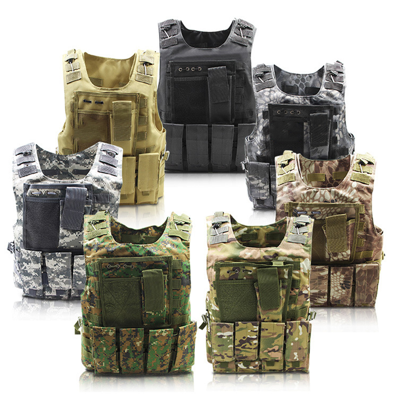 Outdoor Equipment Python Pattern Vest Tactical Vest Amphibious Battle Military Waistcoat Hunting Protection Vest Camouflage