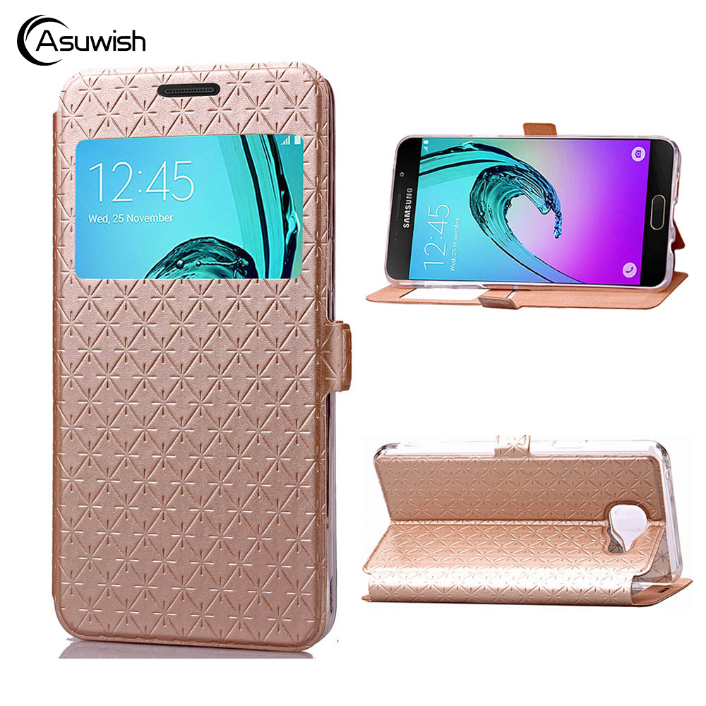 360 Flip Cover Leather Phone Case For Samsung Galaxy A3 2016 A 3 5 A5 2017 A310 A510 A320 A520 SM A310F A510F SM-A320F SM-A520F