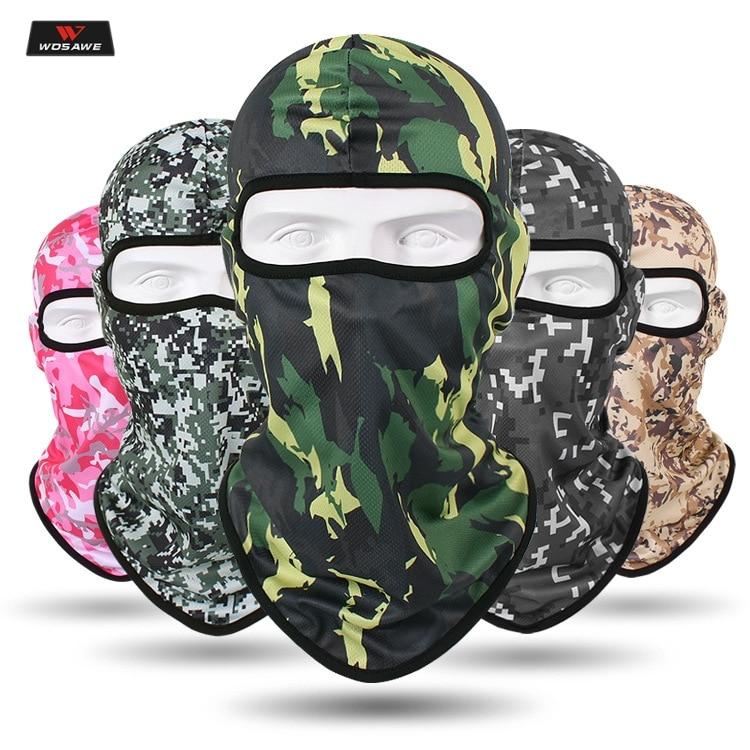 Motorcycle Camouflage Balaclava Full Face Mask Warmer Windproof Breathable CS Skull Mask Ski Face Shield Anti-UV Men Hat Cap