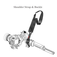 Neck Shoulder Strap for DJI Ronin S Superior 3 Axis Handheld Gimbal Stabilizer With Lanyard Sling & Buckle Hang buckle Strap Set