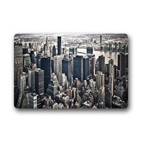 Memory Home Creative Style Door Mat Skyline Black And White New York Cityscapes Architecture Doormat Floor