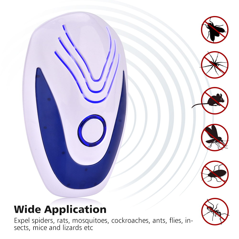 Ultrasonic Insect Repeller Electronic Ultrasound Mouse Control Rejector Anti Mosquito Repellent For Cockroach Bug Pest Rejection