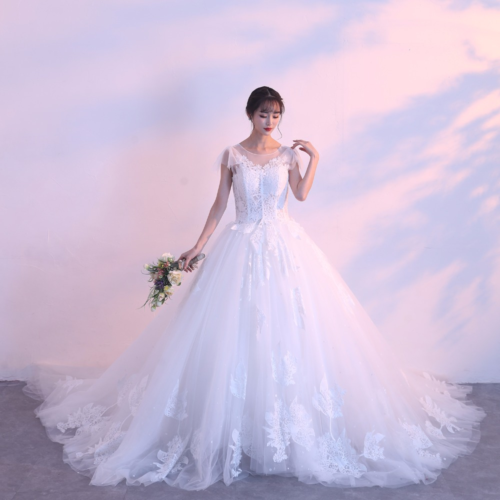 Menoqo Lace Up Ball Gown Quality Wedding Dresses 2018 Vestido de ...