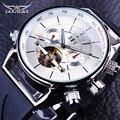 Jaragar Mens Relógios Top Marca de Luxo Automático do Relógio Do Esporte Da Moda Tubarão Projeto Linhas Faixa De Borracha Turbilhão Calendário de Exibição