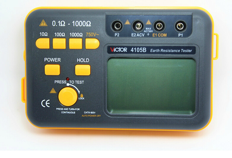 ФОТО Victor VC4105B Ground Resistance Tester 0.1~1000Ohm