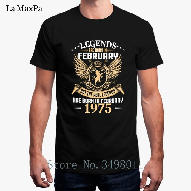 245481eae Kings Legends Are Born In February 1975 T-Shirt For Men Summer Cotton  Simple Tee Shirt Streetwear Mens T Shirt 2018