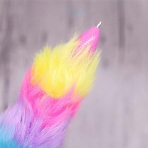 Image 5 - 50 шт. плюшевая ручка, шестицветная шариковая ручка, оптовая продажа, канцелярские товары для творчества студентов, Офисная подарочная ручка для письма