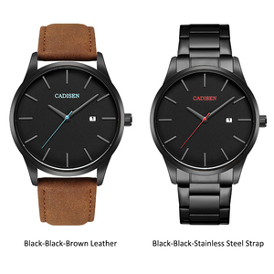 Image 5 - Men Watch CADISEN Brand Military Wrist Watches Full Steel Famous Business Quartz Men Watch Clock Waterproof Relogio Masculino