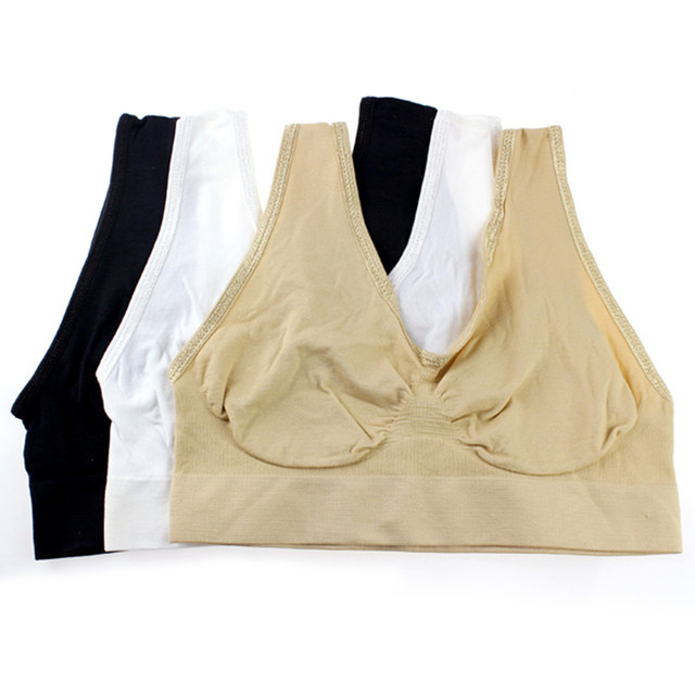 3 Pcs Packing Push Up Bra Fashion Bra Vest Leisure Comfortable Seamless Bra Women Crop Top Bra Cotton Comfort Underwear