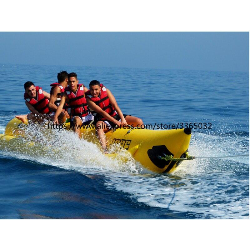 Remorquables volants pour sports nautiques, bateau gonflable bon marché de 8 personnes, tube gonflable de bateau de banane