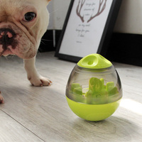 Doggy Tumbler Leaky Food Ball Pet Toy Adjustable Dog Puzzle Slow Food Device