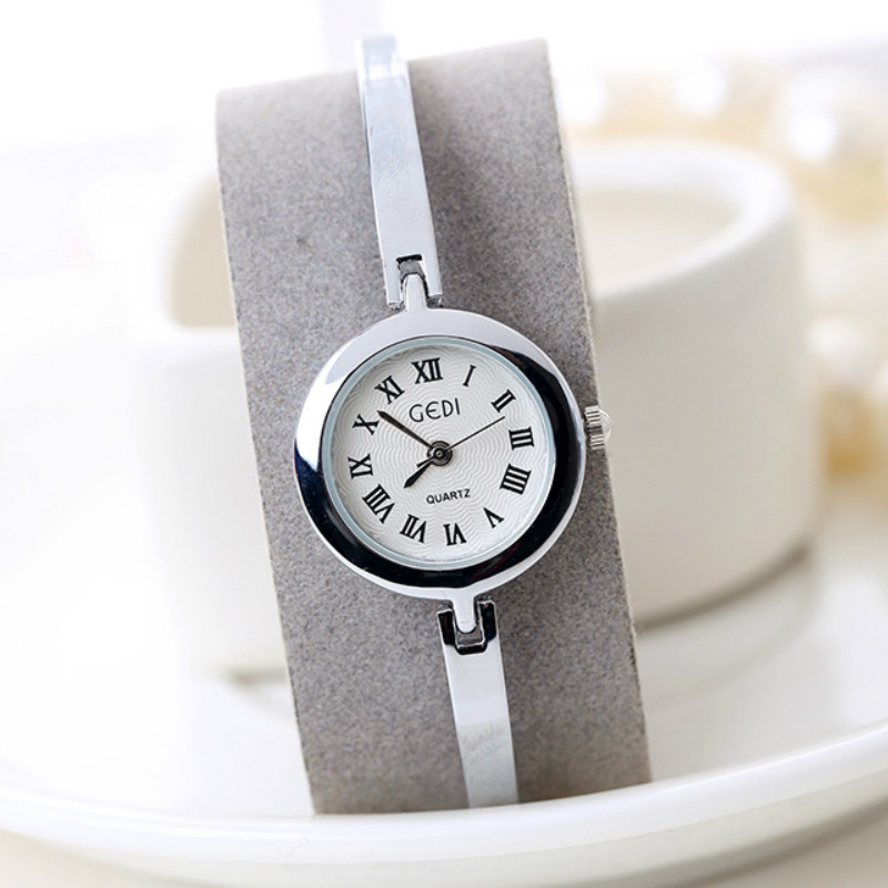 ФОТО GEDI Luxury Brand Elegant Ladies Golden Bracelet Wristwatches with Diamond Female Fashion Clock watch for women gift Relojes