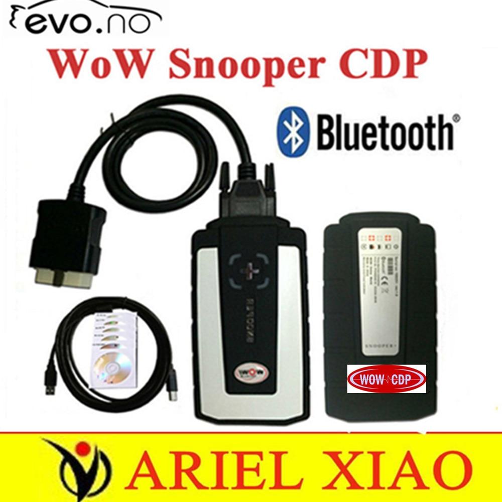 Цена за DHL wow snooper CDP с Bluetooth V5.008 R2 программное обеспечение В. Д. tcs cdp pro автомобили грузовики авто диагностика инструменты лучше