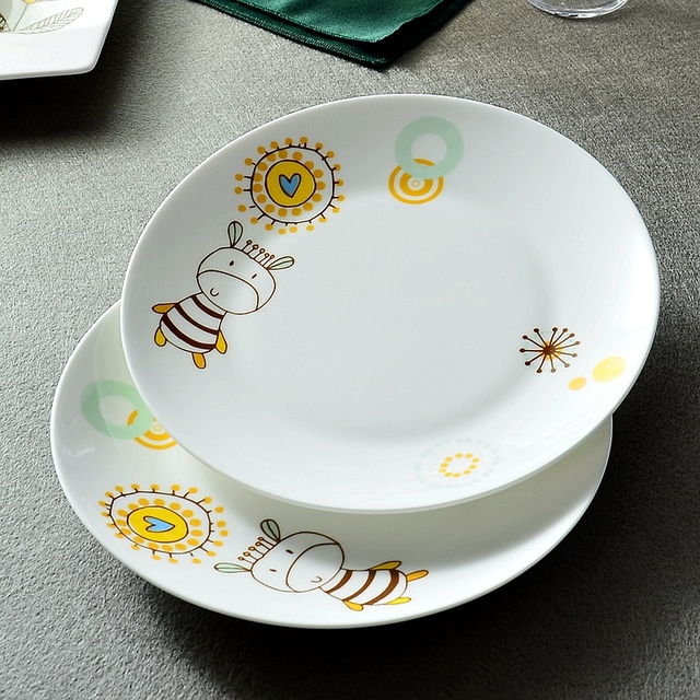 8 inch bone china dinner plates cute cartoon design ceramic kids charger plates : 8 inch dinner plates - pezcame.com