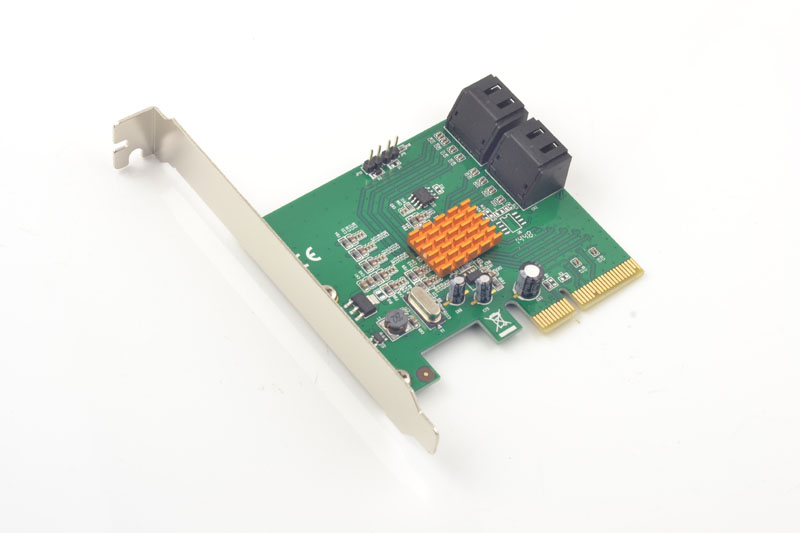 PCI-Express to 4 Ports SATA3.0 6Gb HDD SSD Raid Controller Card 88SE9230 Chipset good quality 4 ports sata 2 pci express hard drive raid controller card 3gb s sil3124 chipset best price