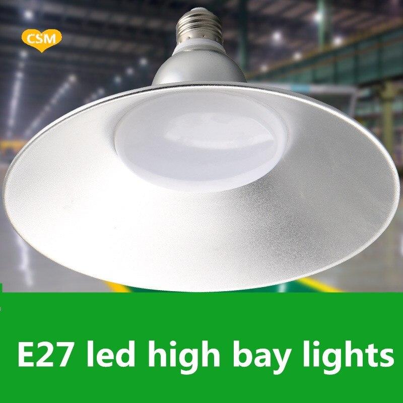 Industriebeleuchtung 6 Teile/lose E27 Led Hohe Bucht & Niedrigen Bucht Beleuchtung Lager Licht Industrielle Licht Ersetzen Halgon Lampe Led-leuchten 30w36w45w65w