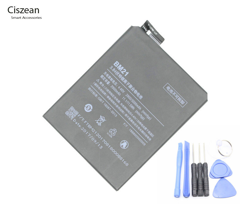 Ciszean 21 Replacement-Battery Mobile-Phone Mi-Note Xiaomi 2900mah/11.1wh For 3GB