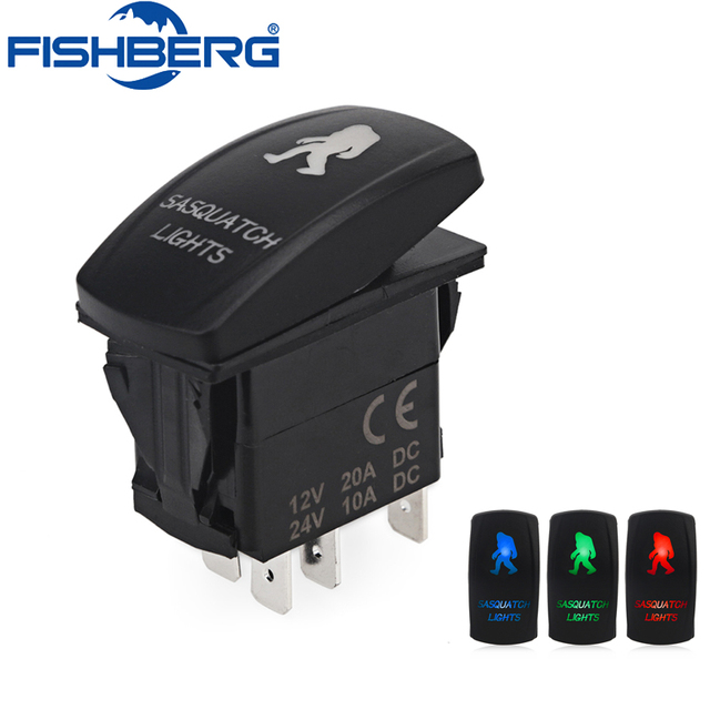 5 pin laser rocker toggle switch sasquatch lights 20a 12v onoff led 5 pin laser rocker toggle switch sasquatch lights 20a 12v onoff led light blue cheapraybanclubmaster
