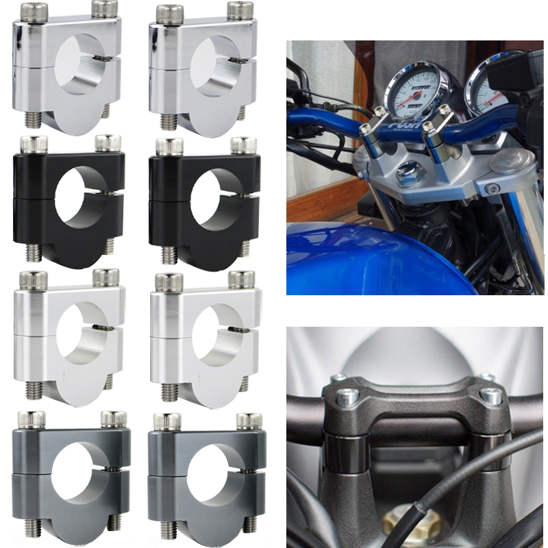 7/8 22mm Motorcycle Handlebar Riser Clamps For Suzuki Bandit GSF250 GSF400 GSF650 GSF600 GSF750 GSF1200 GSF1250