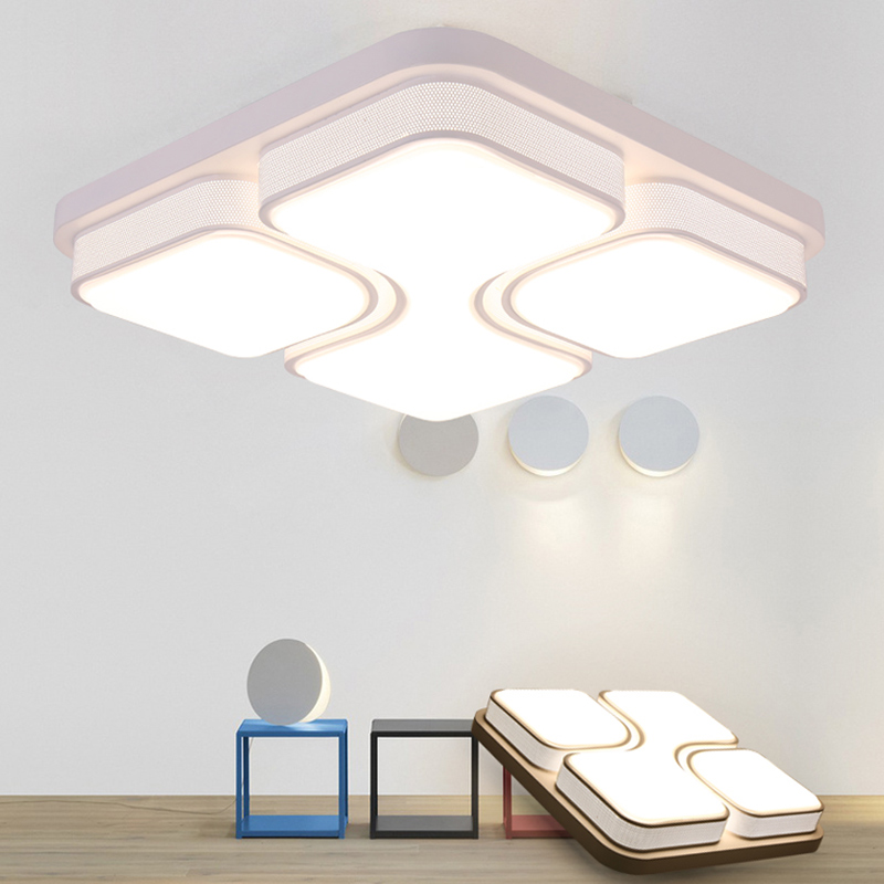 Minimalism Modern LED Ceiling Lights remote control luminarias para sala Thin ceiling Lamp Foyer living room dining room Bedroom