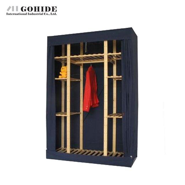 Gohide 132 см Супер Качество Простой Шкаф с Вешалками Хранения Нетканые Ткани Шкаф Мебель Для Спальни