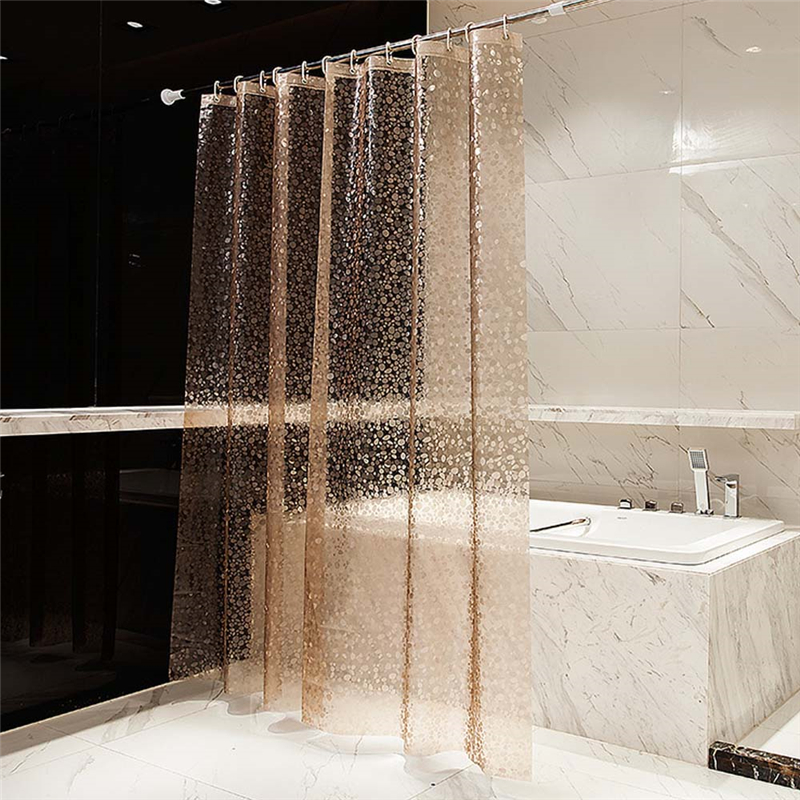 Thickening 15 Silk Transparent 3D Water Cube EVA Shower Curtain Environmental Waterproof And Mildew