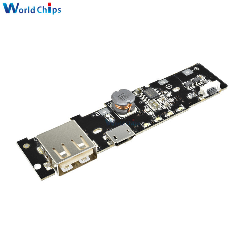 5V 2.1A PCB Step Up Boost Power Module Power Bank Charger Charge Module Charging Circuit Board DIY 18650 Battery