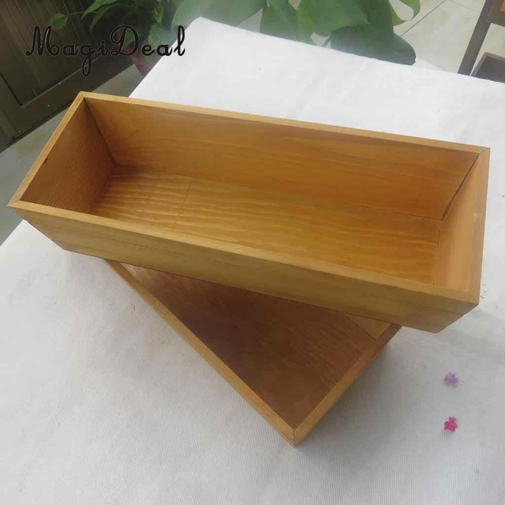2 piezas de madera suculenta planta flor cultivo cama maceta caja jardín plantador