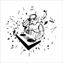 Newest Science Fiction Film Star War Character Robot Rock Music DJ Home Decal Wall Stickers For Kids Room