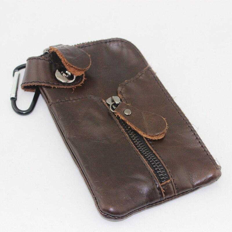 2017 Key Bag Man Genuine Cow Leather Purse Car Key Wallets Men Housekeeper Holders carteira chave Locomotive Coin Purse Card bag