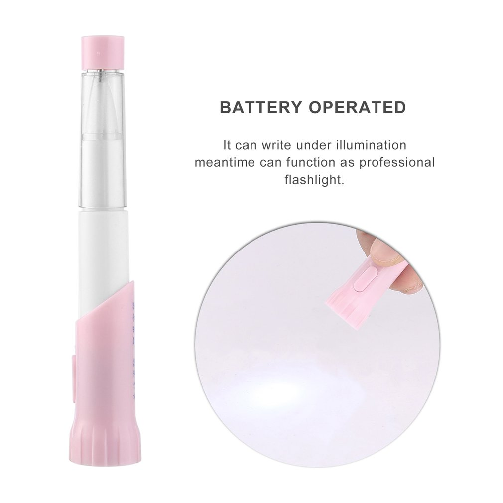 ICOCO 2 in 1 Portable Emergency Flashlight Dual Use LED Pen Flashlight Ball Point Pen For Students Gift Drop Shipping